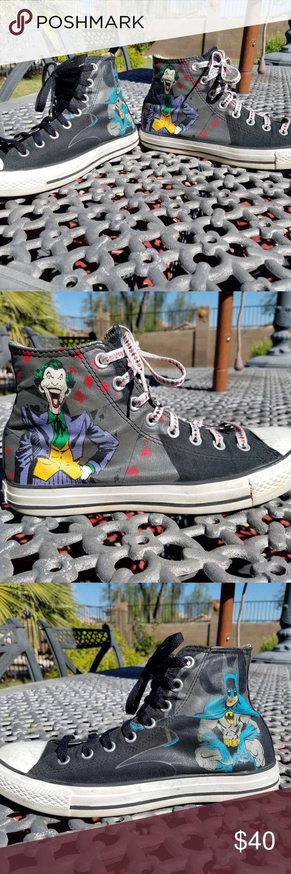 Converse DC Comics Batman/ Joker size 8M/ 10W Good condition Converse Shoes Sneakers