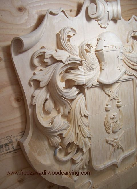 Carved family crest(idea for Montgomery crest - to be carved!)