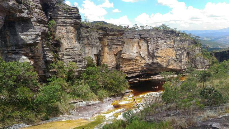 Lago das miragens na trilha  circuito das águas no Parque Estadual de Ibitipoca em Conceição do Ibitipoca, MG - Brasil.