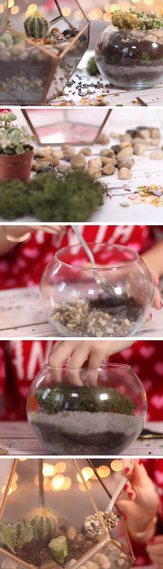 Easy Terrarium | Last Minute DIY Christmas Gifts for Mom | Easy to Make Christmas Gifts