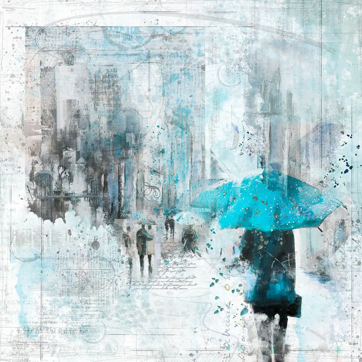 The Blue Umbrella: By Barbara Mierau-Klein
