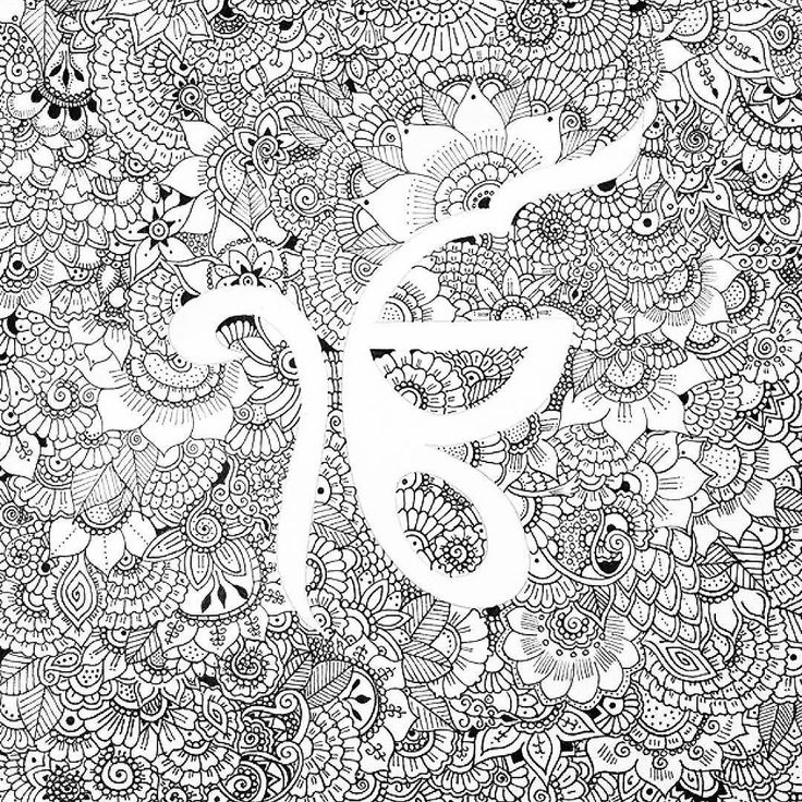 the artist canvas beautifully detailed Ek Onkar drawing either amazing patterns all around by @avi_ks of Kenya Africa