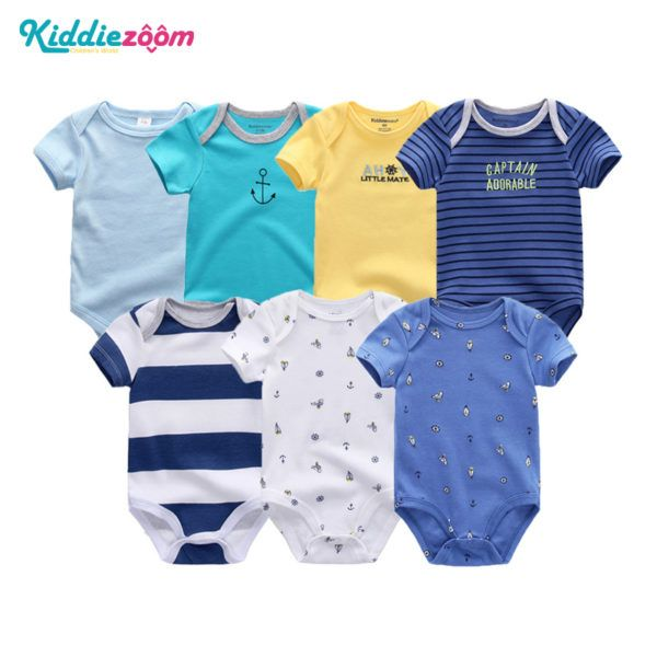 c34b0a9050fc 7Pcs Newborn Rompers   Onsies 7Pcs Unisex Onsies Features  New ...