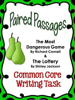 My newest Common Core Writing Task Paired Passage engages students with two classic stories.