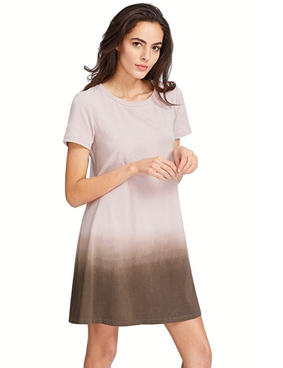 f1c88b1ef2868 Romwe Women's Tunic Swing T-Shirt Dress Short Sleeve Tie Dye Ombre Dress at Amazon  Women's Clothing store: #dresses #summerstyle #summerfashion #outfits