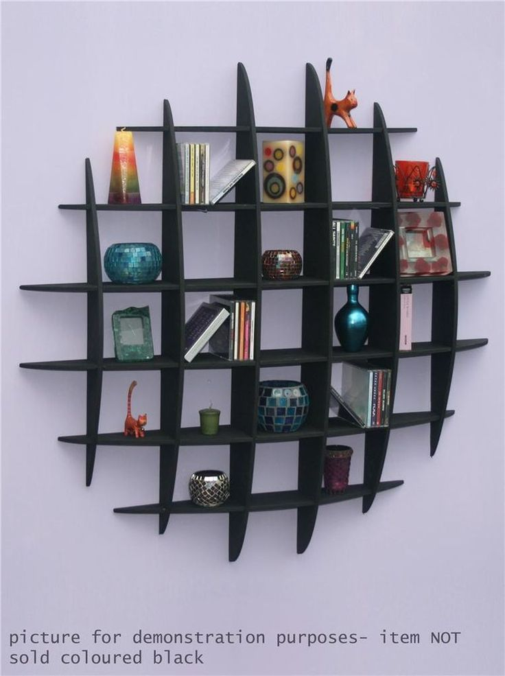details about dvd cd storage rack wall mounted unit retro style shelving home retro style. Black Bedroom Furniture Sets. Home Design Ideas