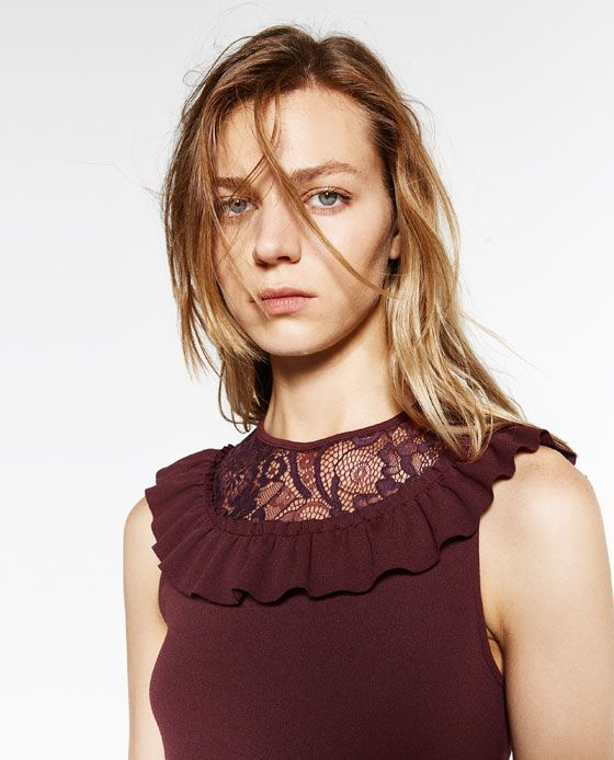 Image 6 of DRESS WITH FRILL from Zara
