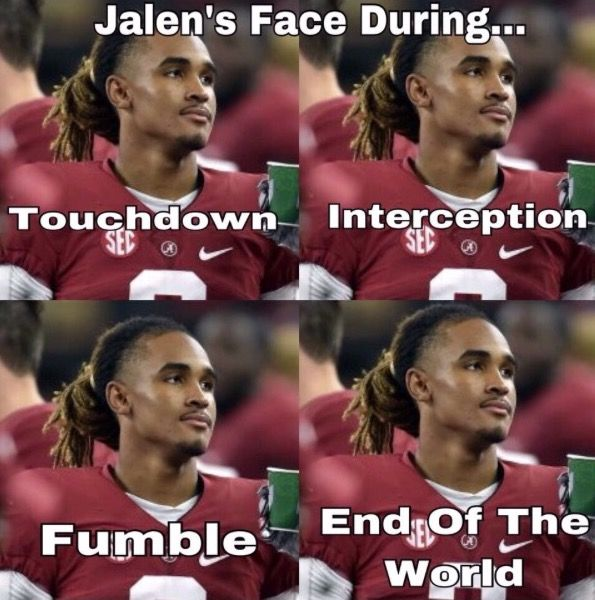 hahahaha we talk about this every game! But he can see into your soul...