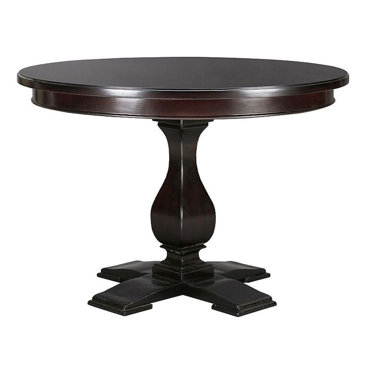 Madison Park Signature Round Pedestal Dining Table, Black