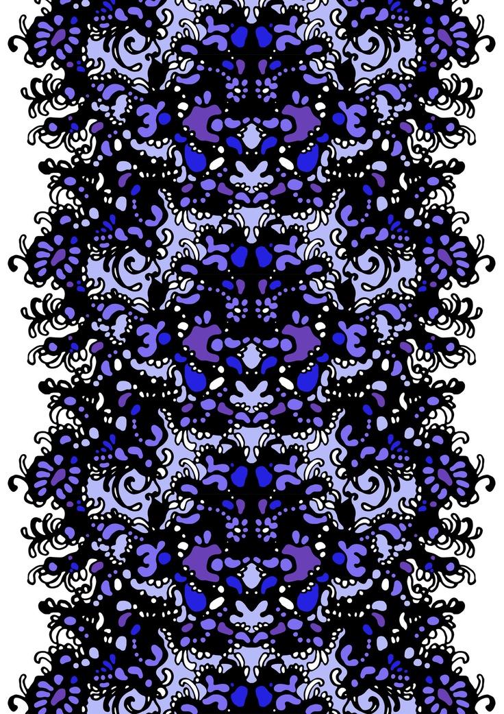 Inkivääri curtain lila 4 by Tanja Orsjoki   Cotton 83%, polyester 17%