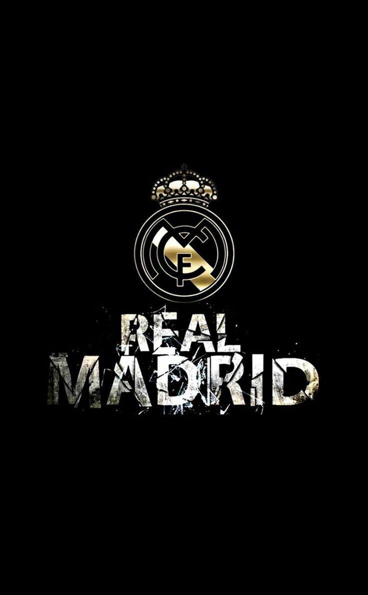 Real Madrid FC Logo Black Mobile Wallpaper HD - http://wallucky.com/real-madrid-fc-logo-black-mobile-wallpaper-hd/