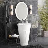"Found it at AllModern - Contempo Leonie 24"" Single Bathroom Vanity Set with Mirror"