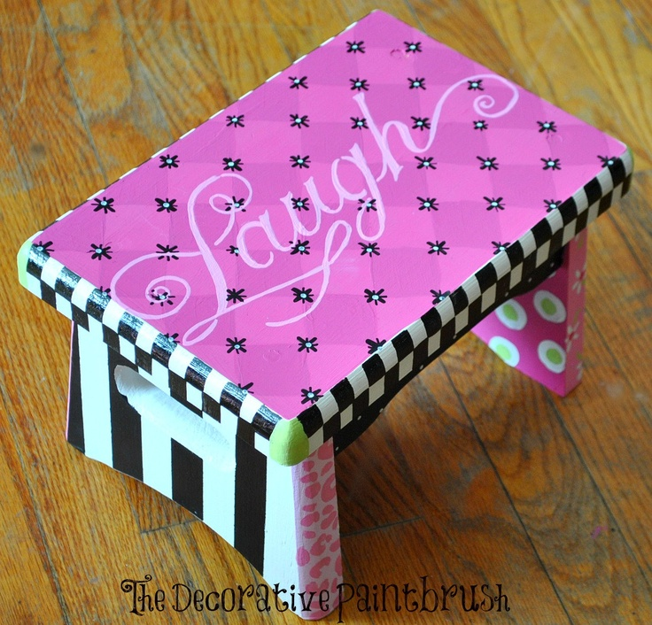 Painted Stool Child S Foot Stool Personalized Free Foot