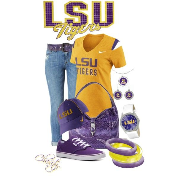 79 best lsu football images on pinterest collage football lsu fan by chasity conner whittington on polyvore mozeypictures Gallery