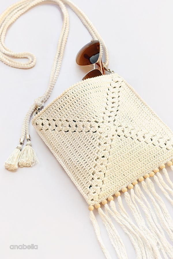 Mini Crochet Shoulder Bag, free pattern by Anabelia Craft Design