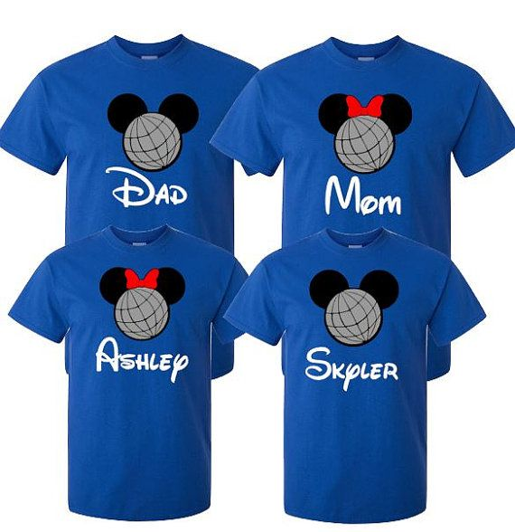 Family Epcot Shirt or Vacation Attire for by MickeysMagicalTees