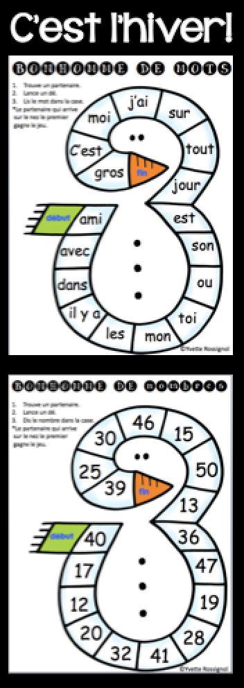 Comptine et activités pour l'hiver! Lecture, écriture, mathématiques. Parfait pour le 1er cycle!