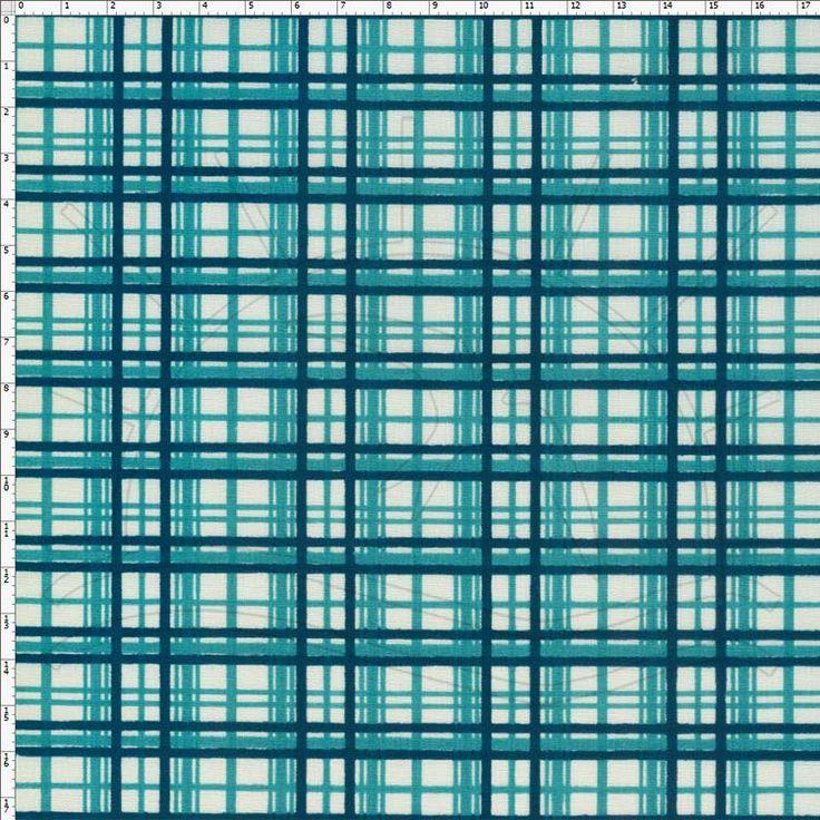 Tecido Estampado para Patchwork - Xadrez Azul Petróleo (0,50x1,40) no Bazar Horizonte