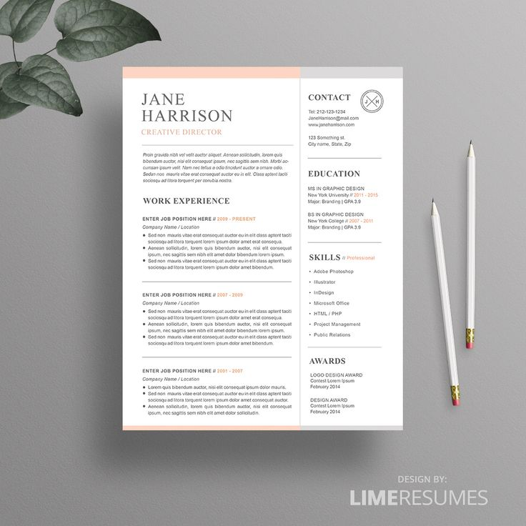 7 Best Cv Images On Pinterest | Resume Cv, Cv Design And Cv Template