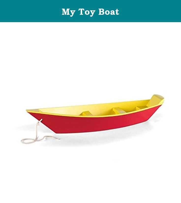 """My Toy Boat. Magic Cabin® Exclusive - Our classic boat has returned! Little skippers love trawling in the ocean, lake, or pond with these seaworthy vessels. Small-scale replicas of the flat-bottomed boat used by New England fishermen in the 19th century, it's handcrafted from sturdy pine and painted with real boat paint for years of water play. For ages 3 and up. Size: 24""""L x 5""""W. ATTENTION: This is an exclusive Magic Cabin product that is only available from us. Please be sure to choose..."""