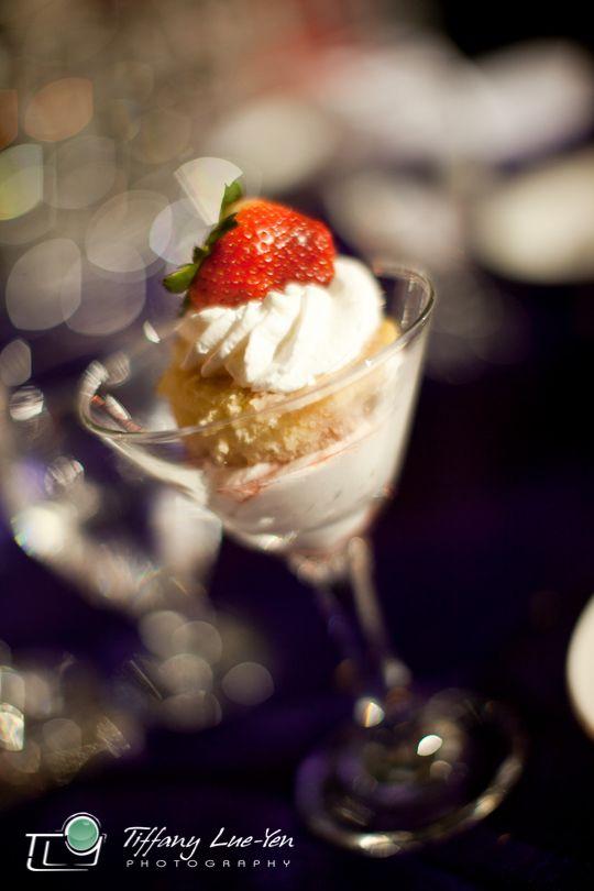 Mini Cheesecake Wedding Dessert Served In A Martini Glass