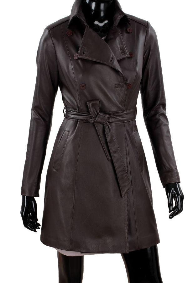 Płaszcz skórzany damski DORJAN WIA123