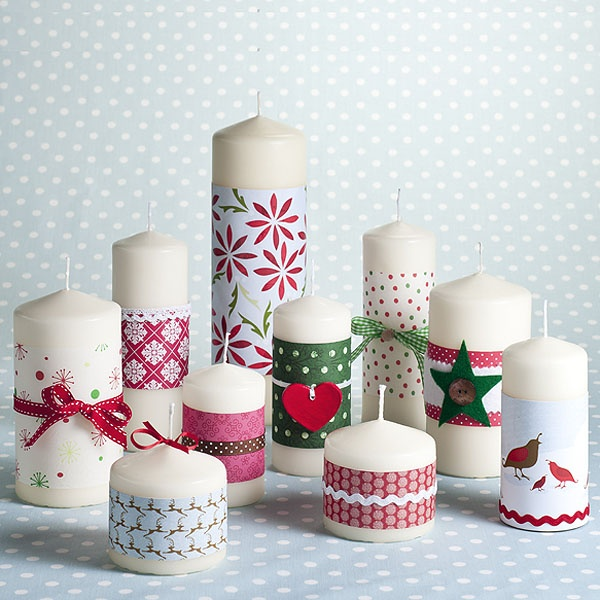Hobbycraft - make your own Christmas candles. I have loads of boring candles i'm definitely doing this!