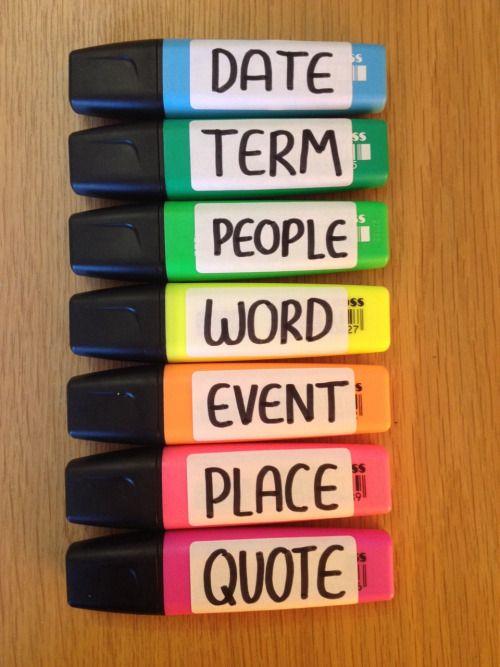 Interessante para estudos! Canetas com cores para cada assunto!