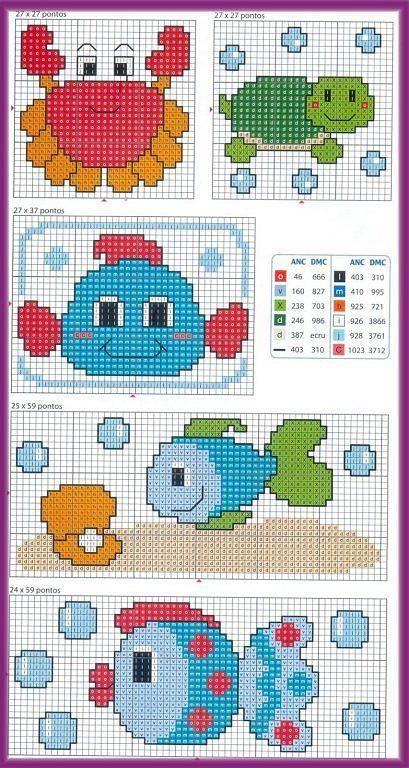 graficos infantiles punto de cruz | Aprender manualidades es facilisimo.com