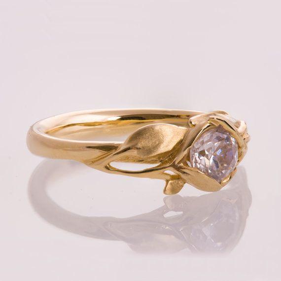 14K Gold und Diamant Verlobungsring und ein Gold Trauring, Verlobungsring, Ehering, Herrenring