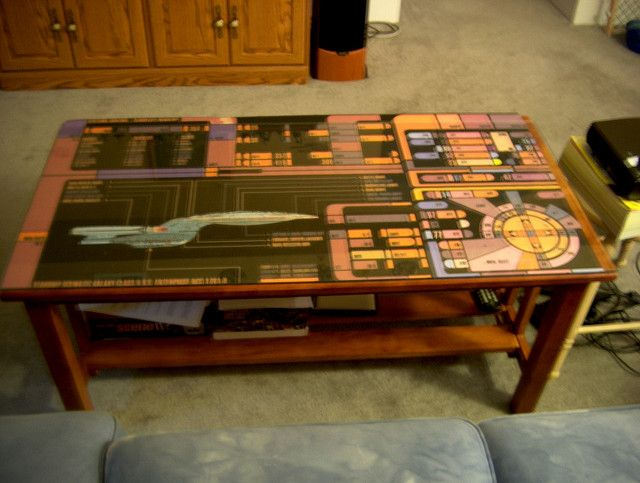 Coffee Table at Star Trek Party by jaundicedferret, via Flickr
