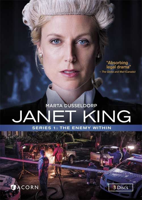 Janet King Series 1: The Enemy Within. Janet King, a senior crown prosecutor, returns to work after maternity leave to find her workplace even more demanding than when she left. She quickly becomes involved in a high-profile and controversial case, and makes several enemies in her search for the truth.  (Adult Fiction DVD) 12/27/16