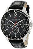 Tommy Hilfiger Men's 1791117 Sophisticated Sport Watch With Black Leather Band - http://themunsessiongt.com/tommy-hilfiger-mens-1791117-sophisticated-sport-watch-with-black-leather-band/