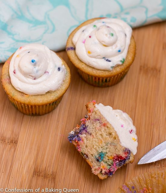 Homemade Rainbow Chip Cupcakes- Confessions of a Baking Queen