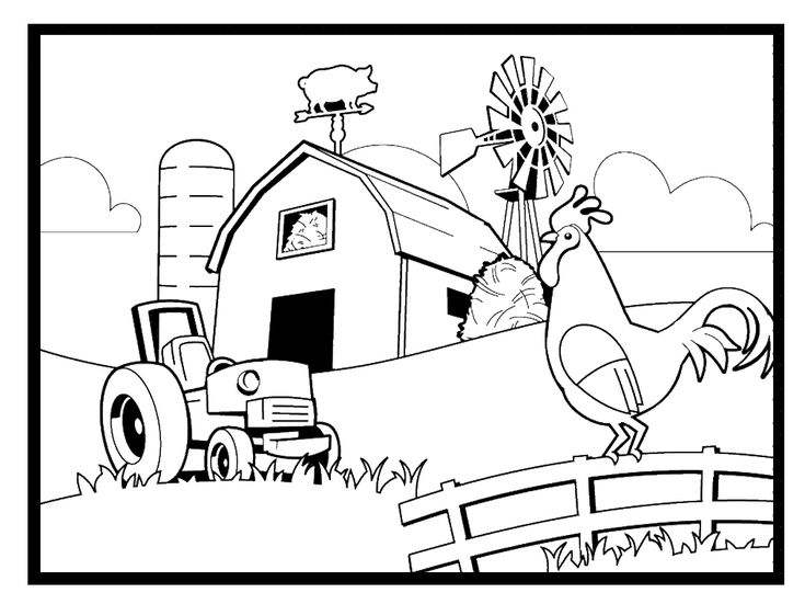 Farm Coloring Pages Preschool - AZ Coloring Pages