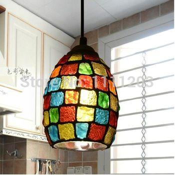 Europea tiffany lámparas pastorales araña mosaico Veranda cafetería bar colgante iluminación de la pista de la noche de la lámpara decoración para el regalo