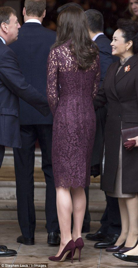 Dolce and Gabbana dress for China State a Visit Oct 21/2015
