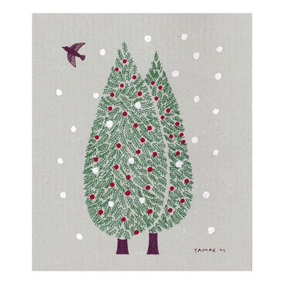 冬のグリーティングスポンジワイプ (水上多摩江/もみの木) | 北欧雑貨|北欧デザインに限定した北欧雑貨通販サイト