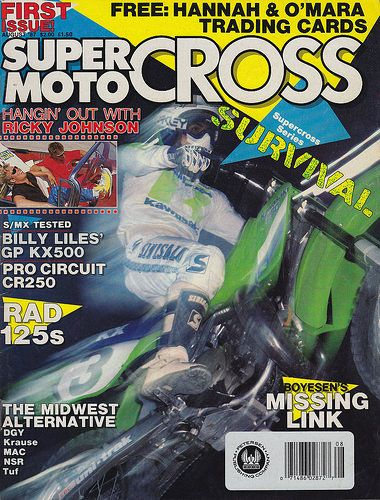 1987 August Super Motocross Magazine | Jeff Ward on the cove… | Flickr