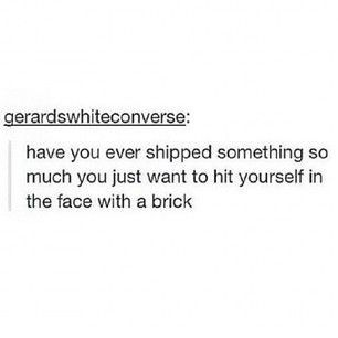 Have you ever shipped someone with a brick?Jason frICKn GrACE