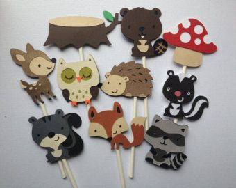 Cupcake Decorating Ideas Animals : 17 Best ideas about Baby Shower Cupcake Toppers on ...