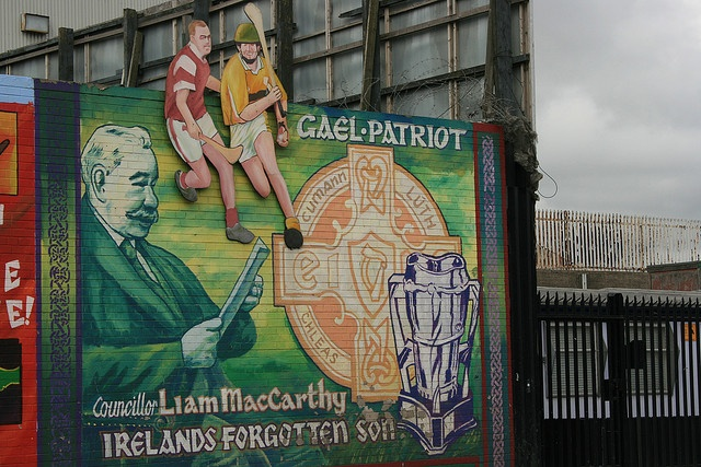 Gaelic Football political mural, West Belfast by Supermac1961, via Flickr