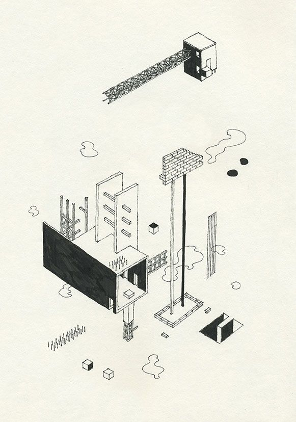 Andrew DeGraff's Unfinished Construction Sites – SOCKS