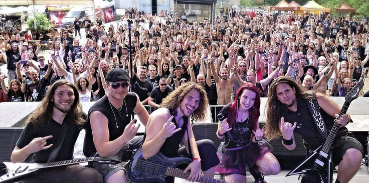 Alia Tempora band on summer festival Made of Metal.  #aliatempora #fans #summer #festival #stage #onstage #live #femalefronted #female #rock #metal #music #musicians #czech