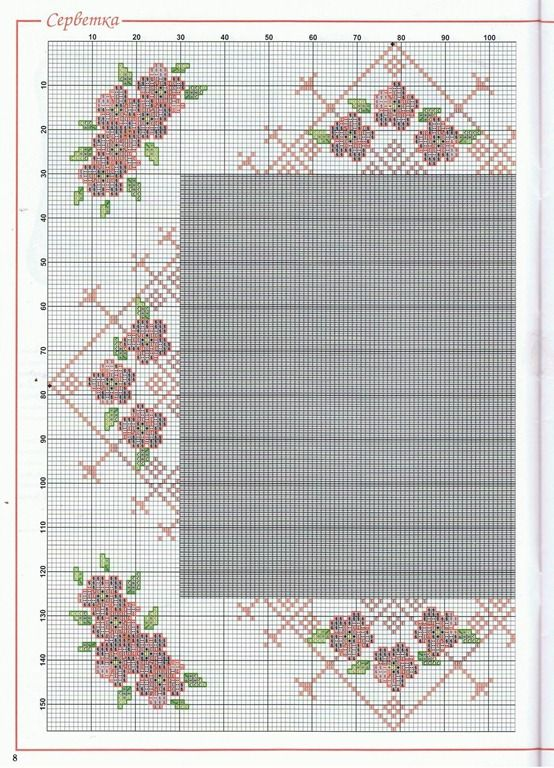 1 - ☕  ☕   Almofadas em  Ponto Cruz com Flores -  /    ☕  ☕  Cushions up Cross Stitch Graph with Flowers -