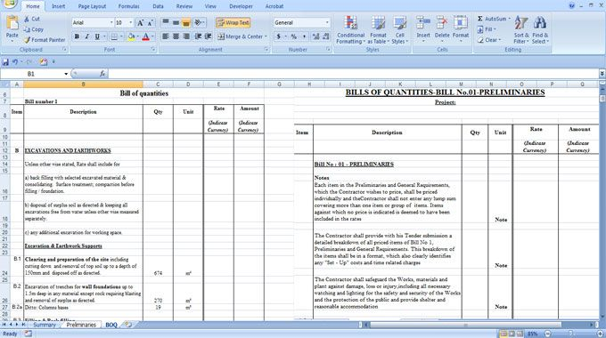 Download Bill Of Quantities Spreadsheet Home Construction Cost Construction Cost New Home Construction