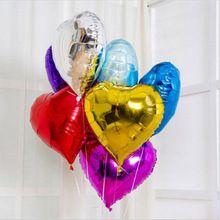 10 Шт./лот 18 Дюймов Украшения Баллоны Воздушные Шары Брак Свадьба С Днем Рождения День Сердце Любовь Воздушный Шар Фольги Воздушные Шары(China (Mainland))