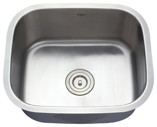 kraus kbu11 20 inch undermount single bowl 16 gauge stainless steel kitchen sink modern kitchen sinks
