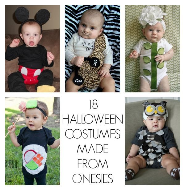 Homemade Halloween Costumes for babies! (All made out of onesies!)
