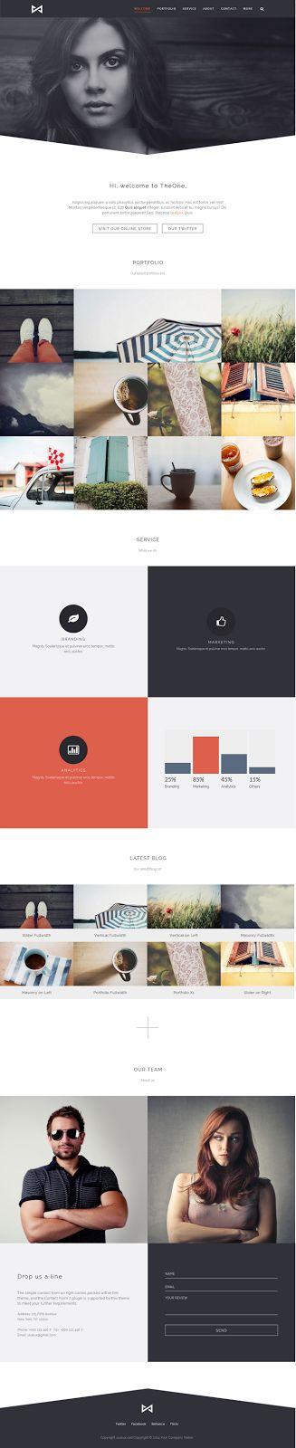 THEONE Parallax Onepage WordPress Theme #webdesign